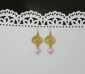 Gold Beauty and the Beast Earrings