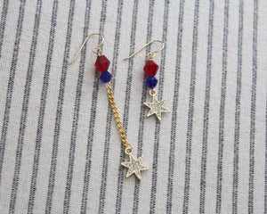Captain Marvel Earrings - choose your length!
