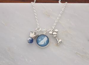 Cinderella Silver Charm Necklace