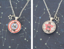 Steve and Bucky Necklace Double Sided Cabochon Pendant