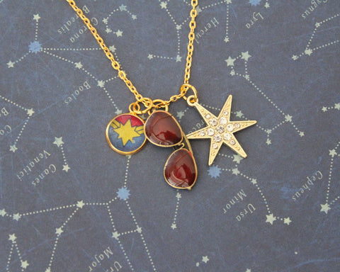 captain marvel jewelry necklace