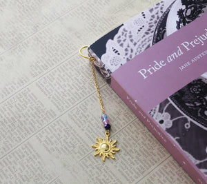 Gold Rapunzel Charm Bookmark