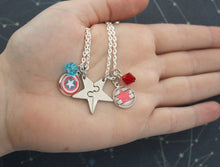 Steve and Bucky Best Friend Star Necklace Set
