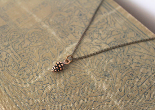 Dainty Pine Cone Necklace