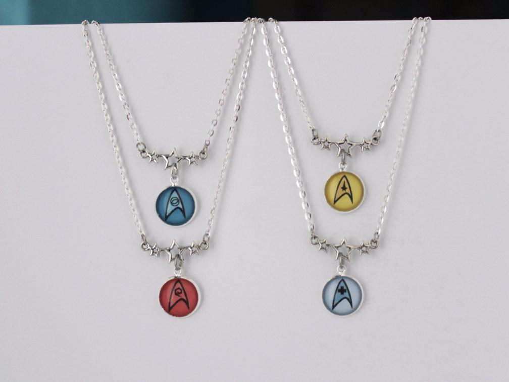 Star Trek Insignia Badge Necklace