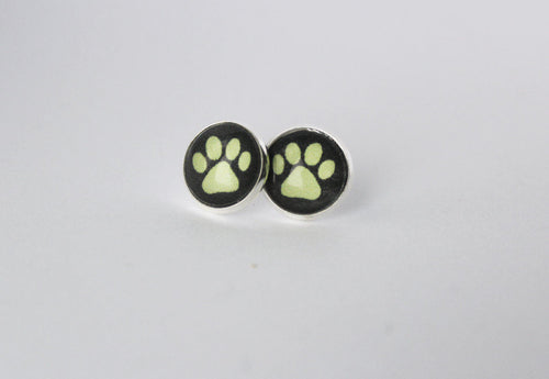 Chat Noir Earrings Cat Noir Silver Stud Earring