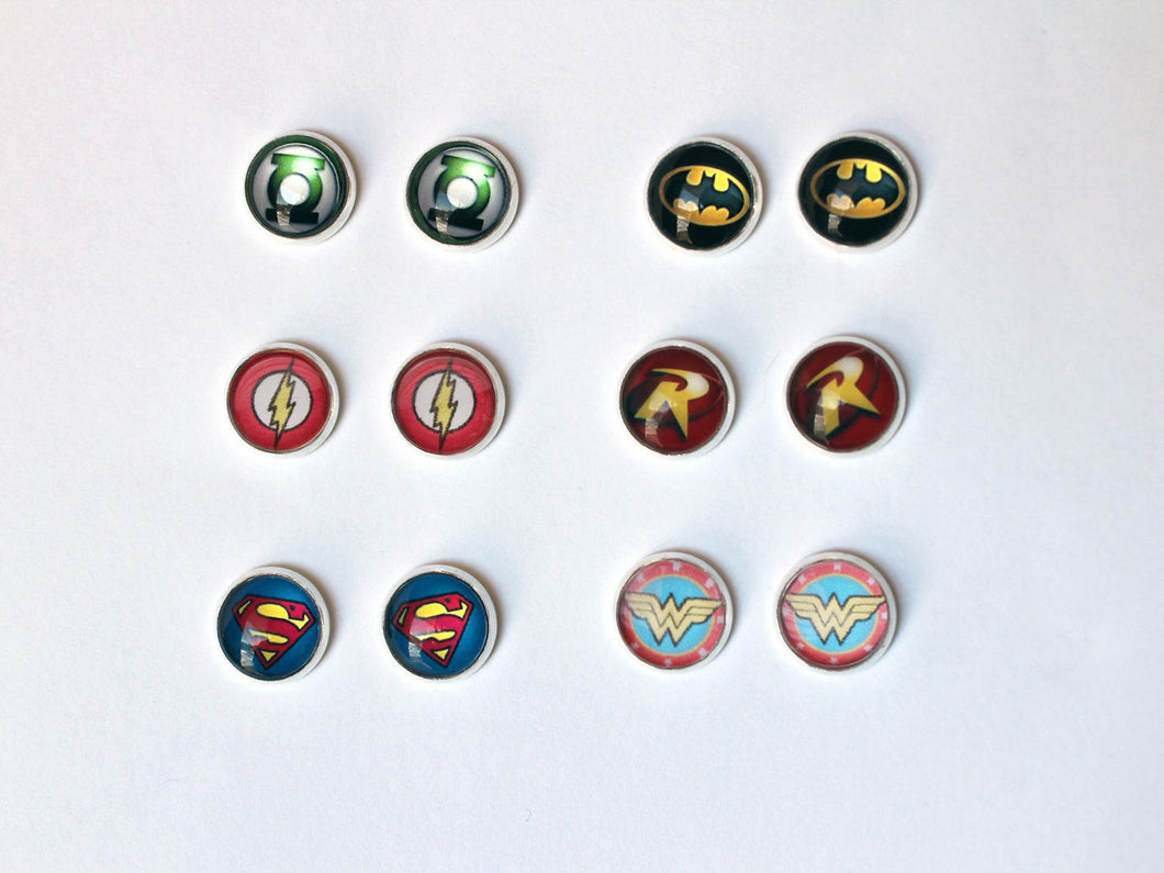 DC Comics Silver Stud Earrings