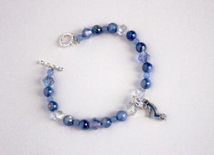 Cinderella Glass Slipper Charm Bracelet
