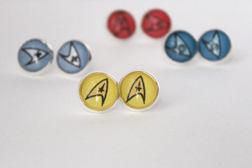Star Trek Silver Stud Earrings