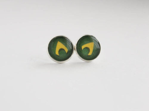 Aquaman Stud Earrings DC Comic Inspired Jewelry