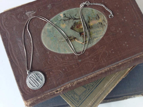 Artisan Pewter Charm Pendant for Friendship and Love