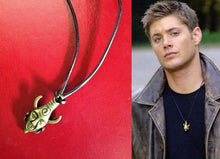 Supernatural Dean's Amulet on Real Leather Cord