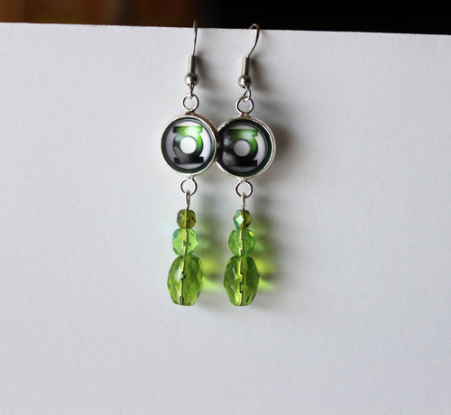 Green Lantern Earrings