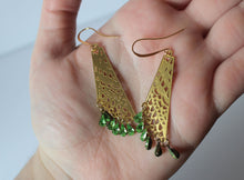 Gold Fairy Wing Earrings