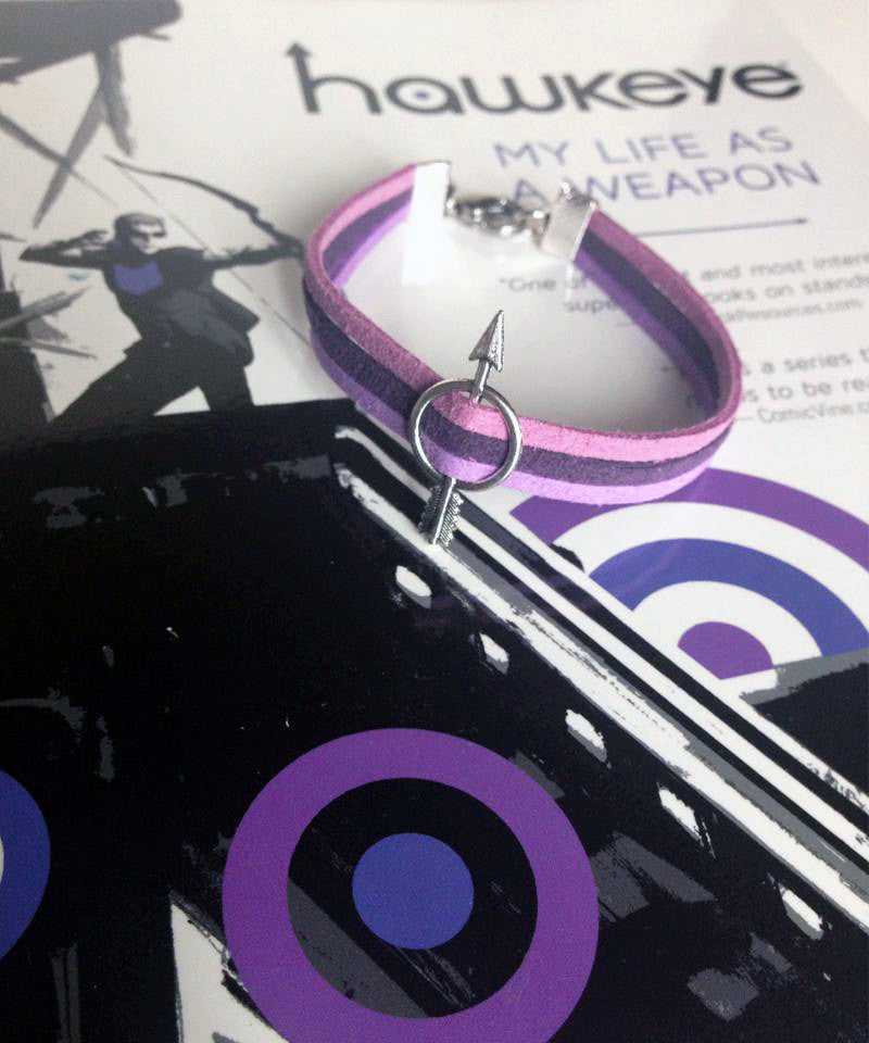 Triple Purple Hawkeye Arrow Bracelet