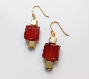 Iron Man Earrings 14K GOLD