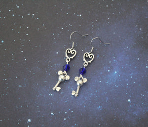 Kingdom Heart Key Earrings