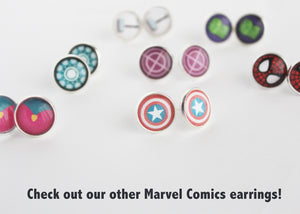 Winter Soldier Silver Stud Earrings