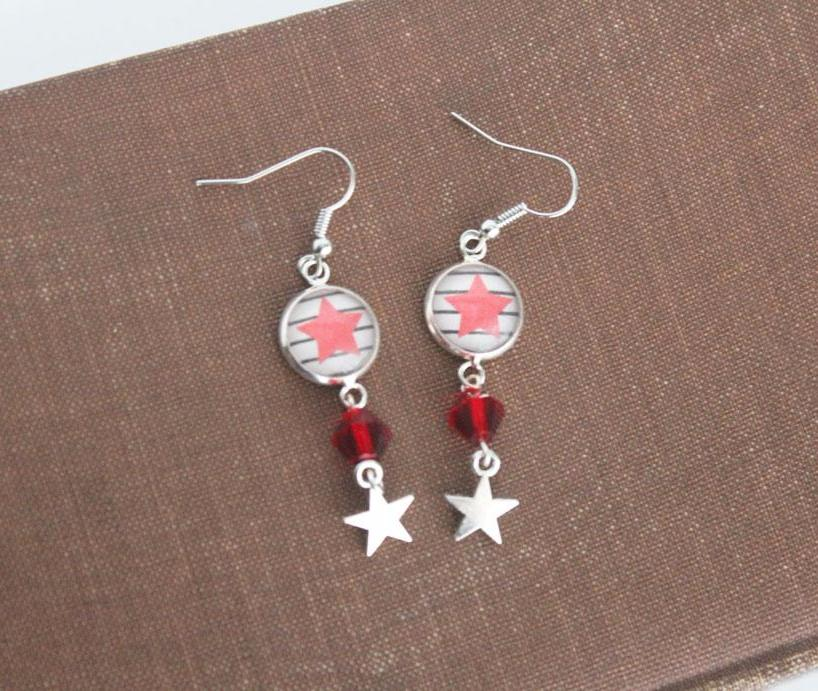 Winter Soldier Star Earrings