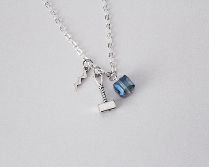 Silver Thor Charm Necklace