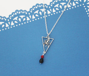 Black Widow Charm Necklace