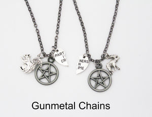 Sam and Dean Winchester Best Friend Necklace Set