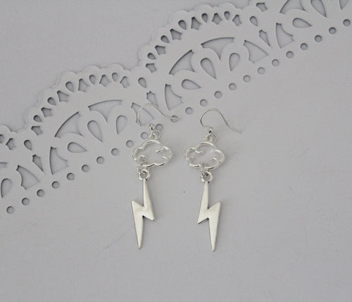 Silver Hercules Charm Earrings