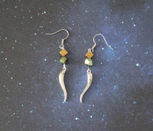 Silver Loki Horn Earrings