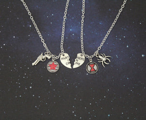 Bucky and Natasha Best Friends Necklace Set