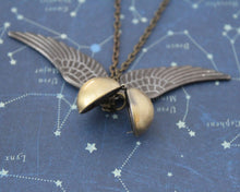 Flying Snitch Locket Necklace