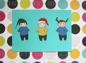 Star Trek Holiday Post Card