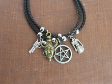 Supernatural Leather Charm Bracelet