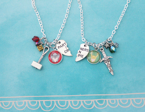 Thor and Loki Friendship Necklace Set