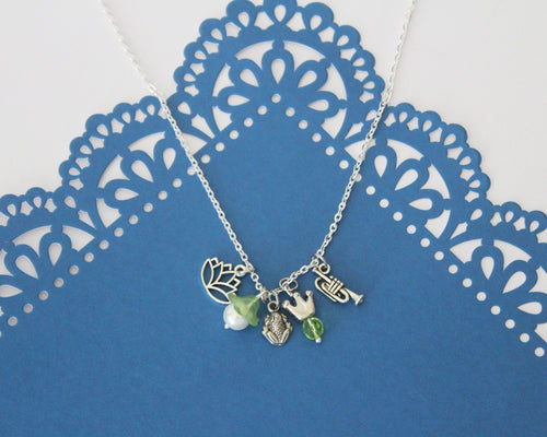 Princess Tiana Charm Necklace