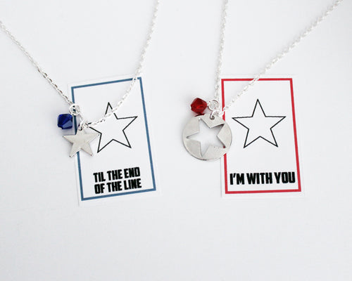 Til the End of the Line Steve Bucky Necklace Set