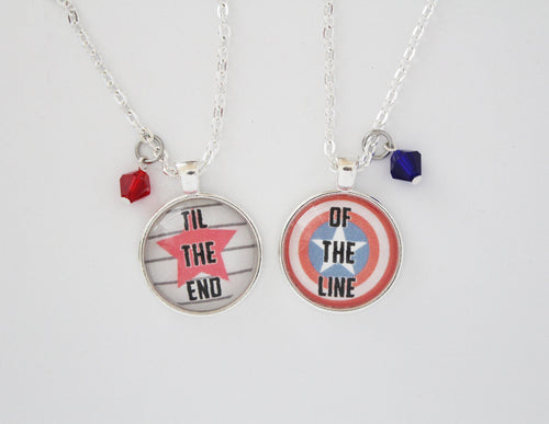 Bucky and Steve Necklace Set Til the End of the Line
