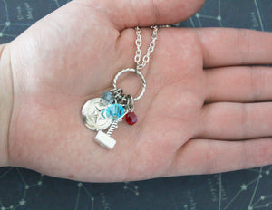 Steve Rogers Thor Hammer Necklace