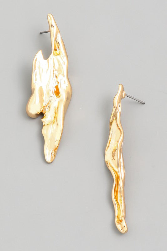 Geo Abstract Metallic Earrings