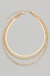 Valen Layered Chain Necklace (GOLD)