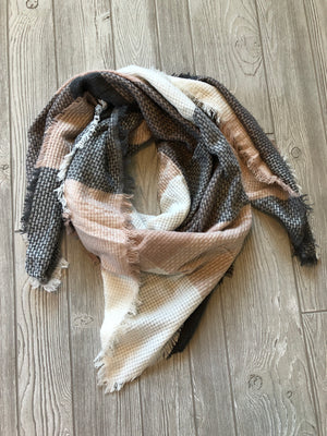 Light Mauve Blanket Scarf