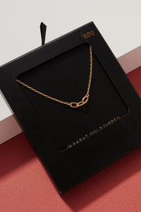 Linnie Chain Link Pendant Necklace (GOLD)