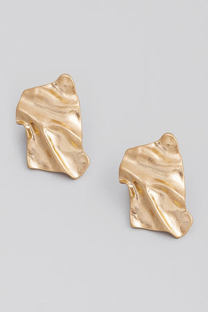 Theo Metallic Rectangle Post Earrings
