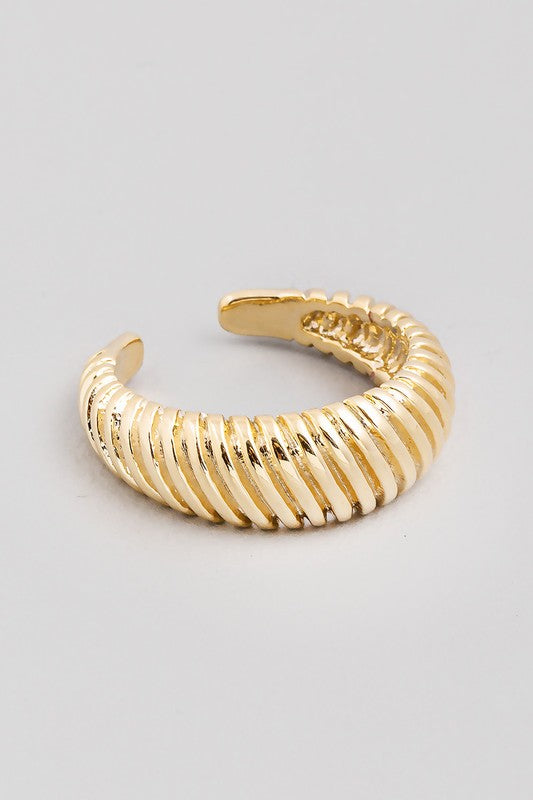 Remi Ribbed Adjustable Ring