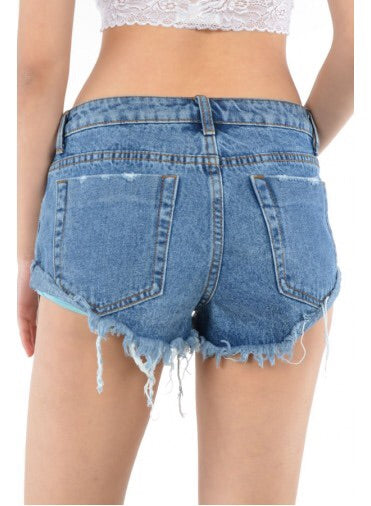 Studded Denim Shorts