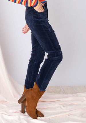 Distressed Corduroy Pants