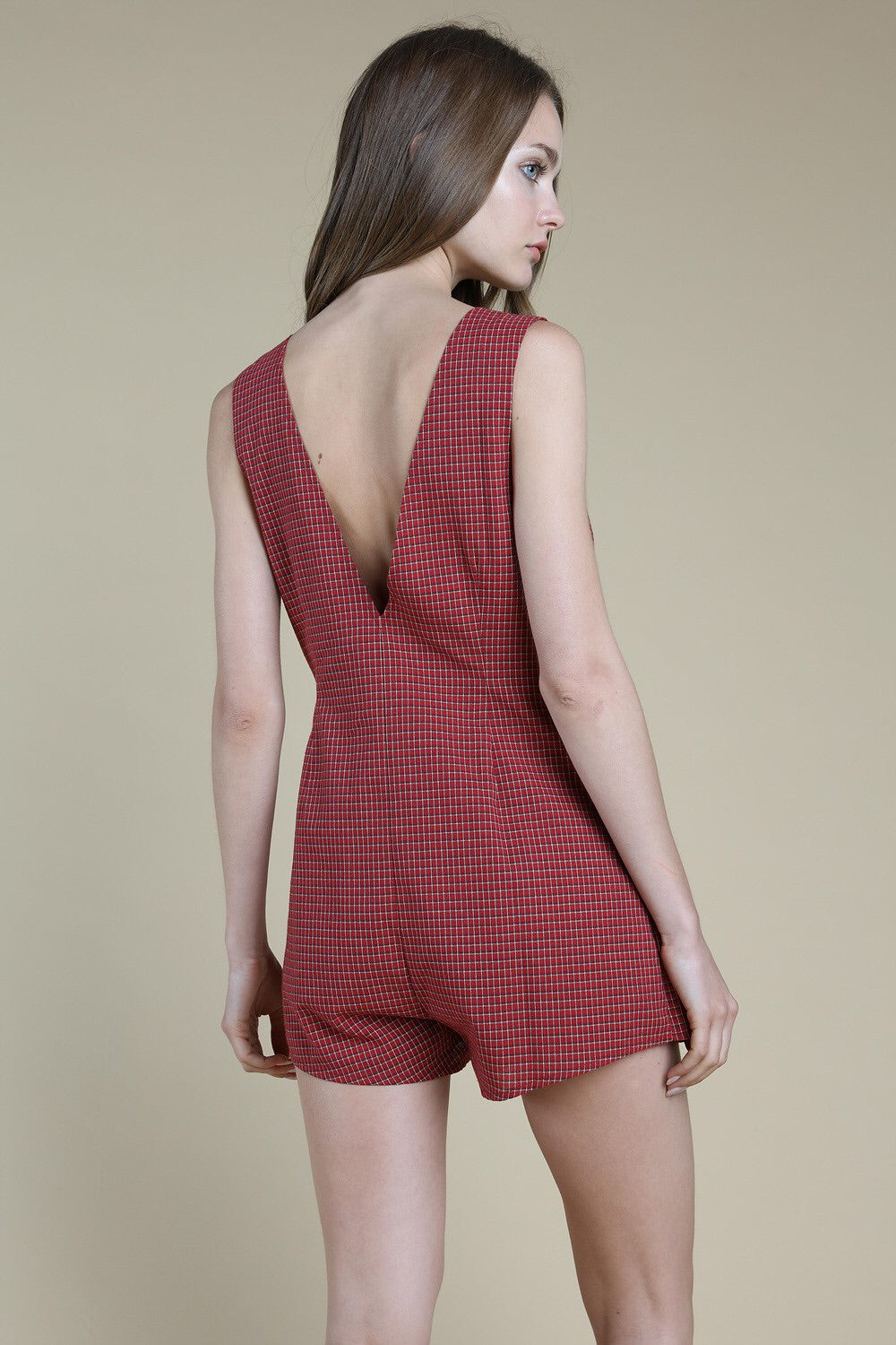 Plaid Wrap Romper