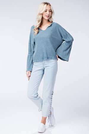 Relaxed Bell Sleeve Top