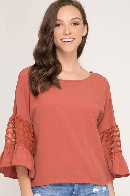 Ruffled Half Sleeve Top