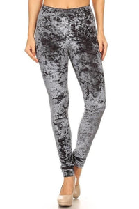 Silver Velvet Leggings