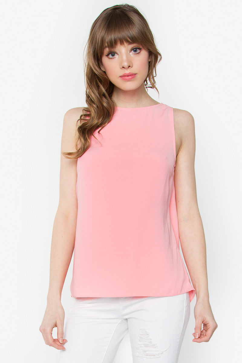 Open Back Sleeveless Top